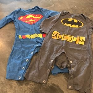 Other - Superman and Batman Onesies